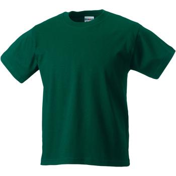 Textiel Kinderen T-shirts korte mouwen Jerzees Schoolgear Classics Fles groen