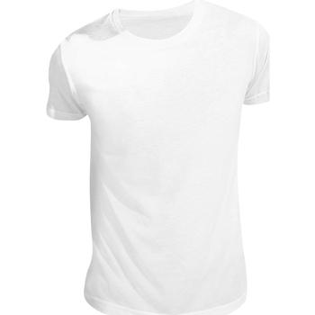 Textiel T-shirts korte mouwen Sols Sublima Wit