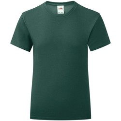 Textiel Meisjes T-shirts korte mouwen Fruit Of The Loom Iconic Forest
