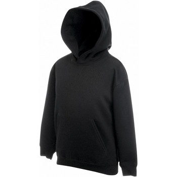 Textiel Kinderen Sweaters / Sweatshirts Fruit Of The Loom Hooded Zwart