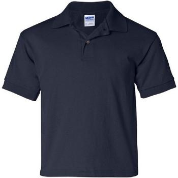 Textiel Kinderen Polo's korte mouwen Gildan Jersey Marine