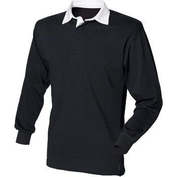 Textiel Heren Polo's lange mouwen Front Row Rugby Zwart/Wit