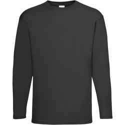 Textiel Heren T-shirts met lange mouwen Universal Textiles Casual Jet Zwart
