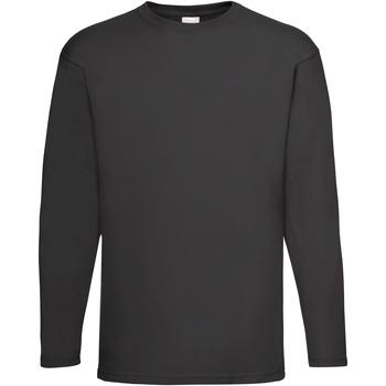 Textiel Heren T-shirts met lange mouwen Universal Textiles 61038 Jet Zwart
