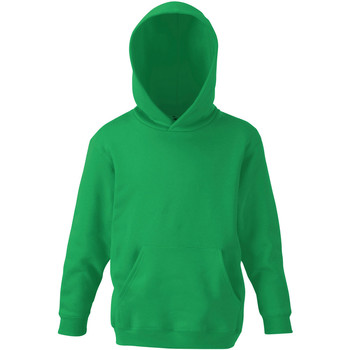 Textiel Kinderen Sweaters / Sweatshirts Fruit Of The Loom Hooded Kelly Groen