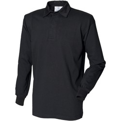Textiel Heren Polo's lange mouwen Front Row Rugby Zwart/Zwart