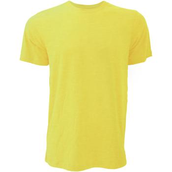 Textiel Heren T-shirts korte mouwen Bella + Canvas Jersey Heather Geel Goud