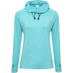Textiel Dames T-shirts met lange mouwen Awdis Cowl Neck Ocean Blue Melange