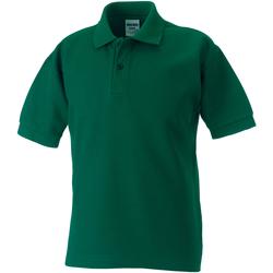Textiel Jongens Polo's korte mouwen Jerzees Schoolgear 65/35 Fles groen