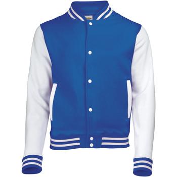 Textiel Kinderen Wind jackets Awdis Varsity Koningsblauw/Wit