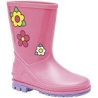 Schoenen Meisjes Regenlaarzen Stormwells Floral Roze/Lila