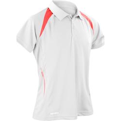Textiel Heren Polo's korte mouwen Spiro Performance Wit/rood