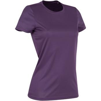 Textiel Dames T-shirts korte mouwen Stedman Active Diepe bessen