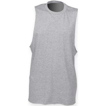 Textiel Heren Mouwloze tops Skinni Fit High Neck Heide Grijs