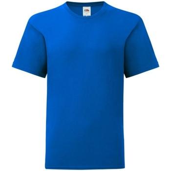 Textiel Kinderen T-shirts korte mouwen Fruit Of The Loom Iconic Royaal Blauw