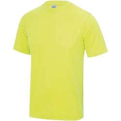 Textiel Heren T-shirts korte mouwen Just Cool Performance Elektrisch Geel