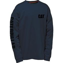 Textiel Heren T-shirts met lange mouwen Caterpillar TRADEMARK Marine