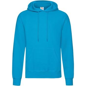 Textiel Heren Sweaters / Sweatshirts Fruit Of The Loom Hooded Azure Blauw