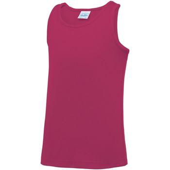 Textiel Kinderen Mouwloze tops Awdis JC07J Heet Roze