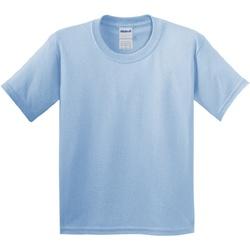 Textiel Kinderen T-shirts korte mouwen Gildan Soft Style Lichtblauw