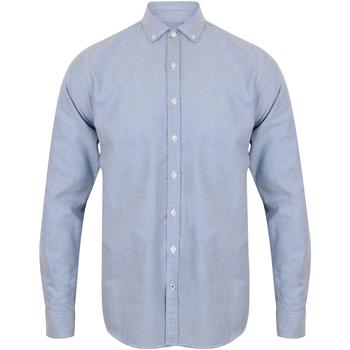 Textiel Heren Overhemden lange mouwen Front Row FR502 Lichtblauw