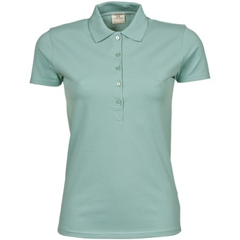 Textiel Dames Polo's korte mouwen Tee Jays Stretch Stoffig groen