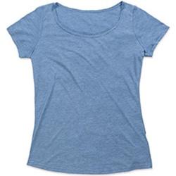 Textiel Dames T-shirts korte mouwen Stedman Stars Melange Vintage Blauw