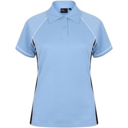 Textiel Dames Polo's korte mouwen Finden & Hales LV371 Sky/Navy/White