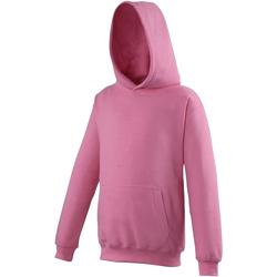 Textiel Kinderen Sweaters / Sweatshirts Awdis Hooded Suikerspin Roze
