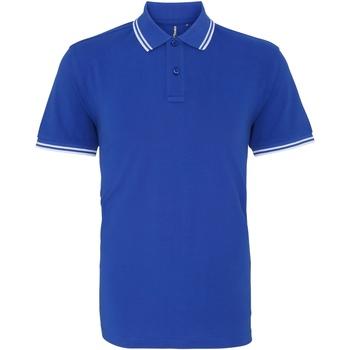 Textiel Heren Polo's korte mouwen Asquith & Fox AQ011 Koninklijk / Wit