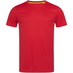 Textiel Heren T-shirts korte mouwen Stedman Mesh Rood