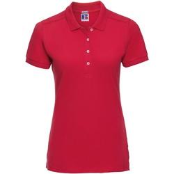 Textiel Dames Polo's korte mouwen Russell Stretch Klassiek rood