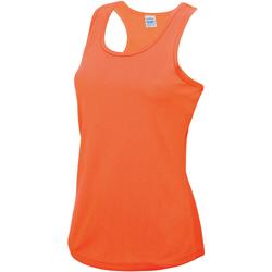 Textiel Dames Mouwloze tops Awdis Girlie Elektrisch Oranje