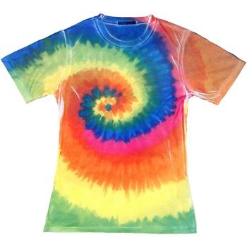 Textiel Dames T-shirts korte mouwen Colortone Rainbow Regenboog