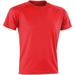 Textiel T-shirts korte mouwen Spiro Aircool Rood