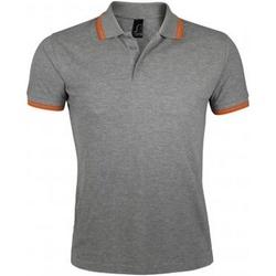 Textiel Heren Polo's korte mouwen Sols Pasadena Grijze mergel/oranje