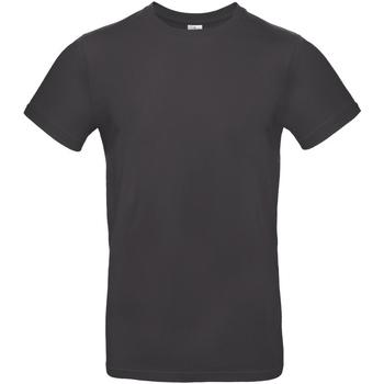 Textiel Heren T-shirts korte mouwen B And C E190 Gebruikt Zwart