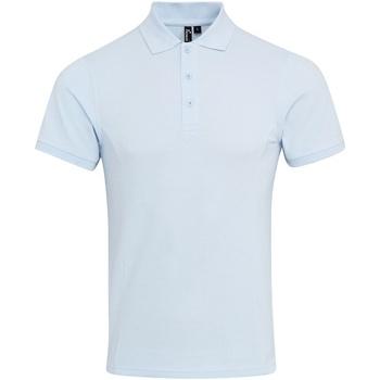 Textiel Heren Polo's korte mouwen Premier Coolchecker Lichtblauw