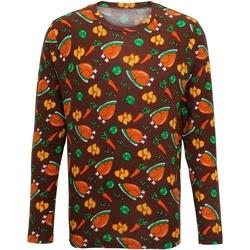 Textiel Heren T-shirts met lange mouwen Christmas Shop Christmas Bruin