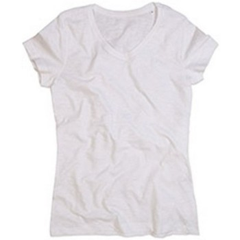 Textiel Dames T-shirts korte mouwen Stedman Stars  Wit