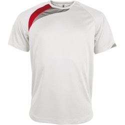 Textiel Heren T-shirts korte mouwen Kariban Proact Proact Wit/ Rood/ Stormgrijs