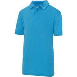 Textiel Kinderen Polo's korte mouwen Awdis JC40J Saffier