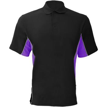 Textiel Heren Polo's korte mouwen Gamegear Pique Zwart/Paars/Wit