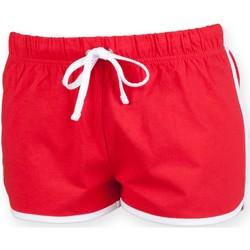 Textiel Kinderen Korte broeken / Bermuda's Skinni Fit Retro Rood / Wit