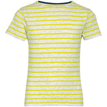 Textiel Kinderen T-shirts korte mouwen Sols Striped As/Lemon