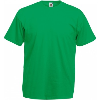 Textiel Heren T-shirts korte mouwen Fruit Of The Loom Valueweight Kelly Groen
