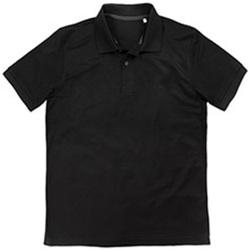 Textiel Heren Polo's korte mouwen Stedman  Zwart Opaal