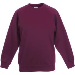 Textiel Kinderen Sweaters / Sweatshirts Fruit Of The Loom Raglan Burgendy