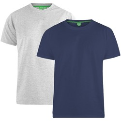 Textiel Heren T-shirts korte mouwen Duke Fenton Marine/Grijs
