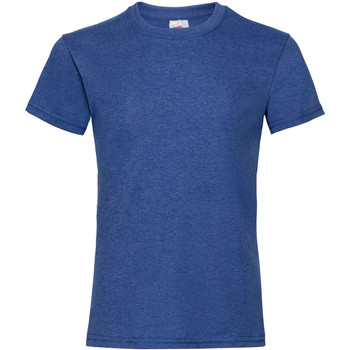 Textiel Meisjes T-shirts korte mouwen Fruit Of The Loom Valueweight Retro Heather Royaal Blauw
